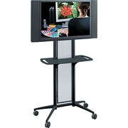 Safco ® Impromptu ® 65 1/2H x 38W x 20D Flat Panel TV Cart, Black