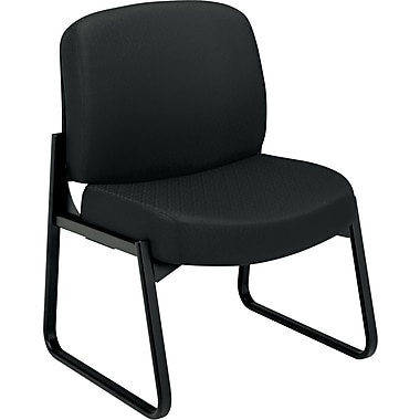 HON  3500 Pyramid  24-Hour Armless Tectonic 100% Polyester Guest Chair, Black