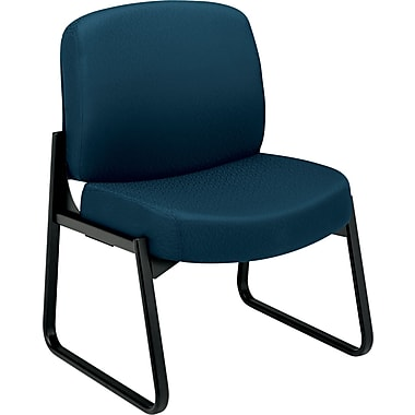 HON  3500 Pyramid  24-Hour Armless Tectonic 100% Polyester Guest Chair, Mariner