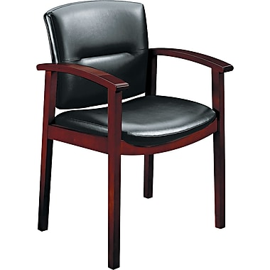 HON ® 5000 Park Avenue Collection ® Leather Guest Chair, Black