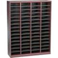 Safco® E-Z Stor® 52 1/4in.(H) x 40in.(W) x 11 3/4in.(D) Wood/Fiberboard Literature Organizer, Mahogany