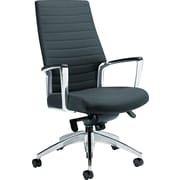 Global Accord High Back Tilt Leather Chair, Black