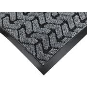 "Crown Tire-Track™ Polypropylene/Vinyl Wiper/Scraper Mat, 60""L x 36""W, Gray"