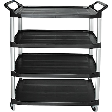 Rubbermaid® 1in.H x 40 5/8in.W x 20in.D Commercial Open Sided Utility Cart, Black