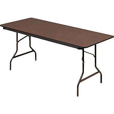 Iceberg 30in.D Brown Economy Wood Laminate Folding Tables