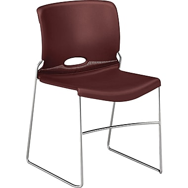HON ® Olson Stacker ® Polymer High-Density Chair, Garnet