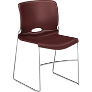 HON Olson Stacking Chair, 4-Pack, Garnet