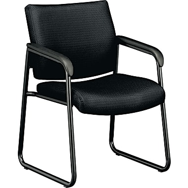 basyx® by Hon VL443 Guest Chair With Black Frame And Sled Base, Black
