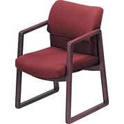 HON ® 2400 100% Olefin Guest Arm Chair, Burgundy, Mahogany Base