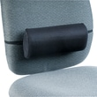 Safco® Remedease® High-Density Foam Lumbar Backrest For Chair, Black, 5in.(H) x 11 1/2in.(W) x 2 3/4in.(D)