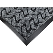 "Crown Tire-Track™ Polypropylene/Vinyl Wiper/Scraper Mat, 72""L x 48""W, Gray"