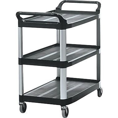 Rubbermaid® 37 13/16in.H x 40 5/8in.W x 20in.D Commercial Open Sided Utility Cart, Black