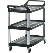 Rubbermaid® 37 13/16H x 40 5/8W x 20D Commercial Open Sided Utility Cart, Black