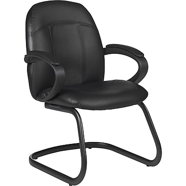 Global Tamiri Leather Armchair, 37in.H x 25in.W x 26 1/2in.D, Black