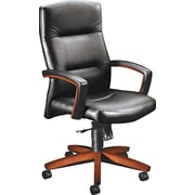 HON ® 5000 Park Avenue Collection ® Executive Leather/Vinyl High Back Knee Tilt Chair, Black