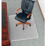 """deflect-o® UltraMat™ Vinyl Chair Mat, Clear, 60""""L x 46""""W"""