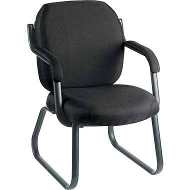 Global Commerce 100% Polypropylene Guest Arm Chair, Asphalt Black