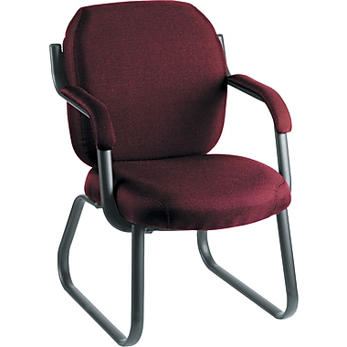 Global Commerce 100% Polypropylene Guest Arm Chair, Rhapsody Burgundy