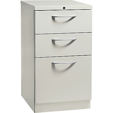 HON® Flagship® 19 7/8in.D 3 Drawer Mobile Box/Box/File Pedestal, Light Gray, Arch Pull