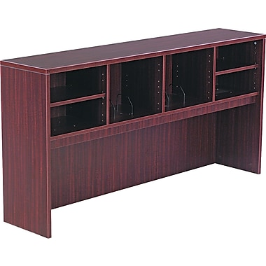 Laminate Open Storage Hutch, 35 1/2in.H x 64 3/4in.W x 15in.D