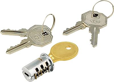 Alera Lock Core For Metal Mobile Pedestals Chrome