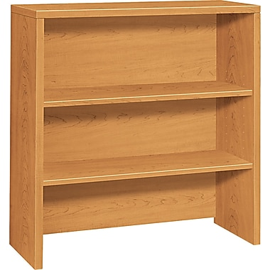 HON ® 10500 Woodgrain Laminate Bookcase Hutch, 37 1/8in.H x 36in.W x 14 5/8in.D, Harvest