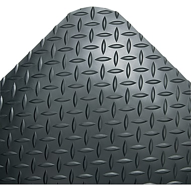 Crown Vinyl Industrial Deck Plate Anti-Fatigue Mat, 144in.L x 36in.W, Black