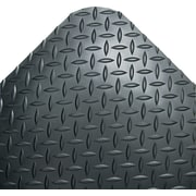 "Crown Vinyl Industrial Deck Plate Anti-Fatigue Mat, 144""L x 36""W, Black"