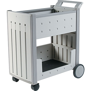 Iceberg 42in.H x 21in.W x 38 1 / 2in.D Mail Cart, Platinum