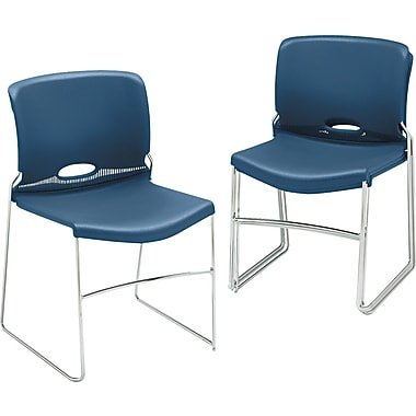 HON Olson Stacking Chair, 4-Pack, Navy