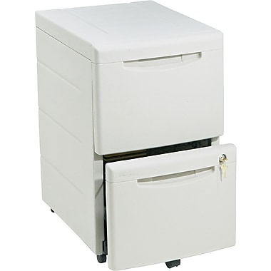 Iceberg WorkManager™ 22in. D 2 Drawer Mobile Desk Height Pedestal File, Platinum Gray
