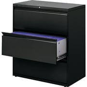 "HON ® Brigade 800 19 1/4""D 3 Drawer Lateral File, Black"