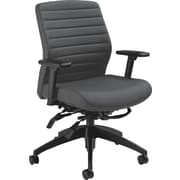 Global Aspen Mid Back Softhide Vinyl Multi-Tilt Chair, Onyx