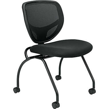 basyx ® by Hon VL302 Padded Mesh Back Nesting Chair, Black