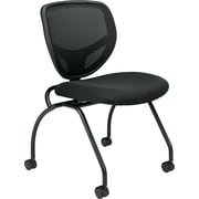 basyx by HON HVL302 Mesh Nesting Chair, Black