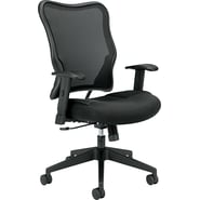 basyx ® by Hon VL702 Padded Mesh High Back Work Chair, Black