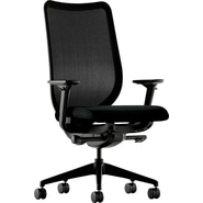 HON® Nucleus® Black ilira-stretch M4 Back Polyester Work Chairs