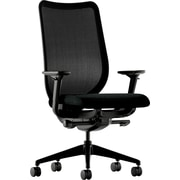 HON® Nucleus® Polyester Work Chair, Black ilira-stretch M4 Back, Black Seat