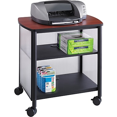 Safco ® Impromptu 26 1/2in.H x 26 1/4in.W x 21in.D Machine Stand, Black/Cherry