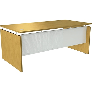 Alera® SedinaAG Woodgrain Laminate Straight Front Desk Shell, 72in.W, Maple