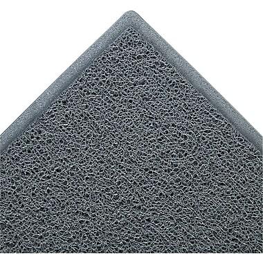 3M Dirt Stop Polypropylene Scraper Mat, 60in.L x 36in.W, Slate Gray