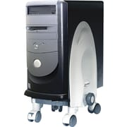 """Kantek 18""""H x 12""""W x 12""""D Deluxe Mobile CPU Stand, Gray"""