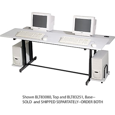 BALT® 33in.(H) x 72in.(W) x 36in.(D) Split Level Computer Training Table, Gray/Black