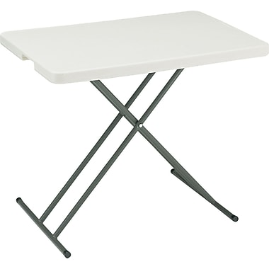 Iceberg IndestrucTables Too 1200 Series Personal Folding Table, Platinum/Gray