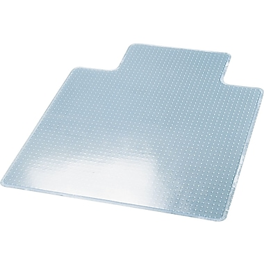 deflect-o® RollaMat Chair Mat For Medium Pile Carpeting, Clear, 53in.L x 45in.W