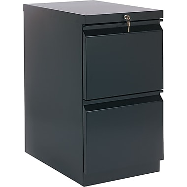 HON® Brigade™ 22 7/8in.(D) 2 Drawer Radius Pull Mobile Pedestal File,Black
