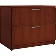 "HON® Arrive™ 24""D 2 Drawer Wood Veneer Lateral File, Henna Cherry"