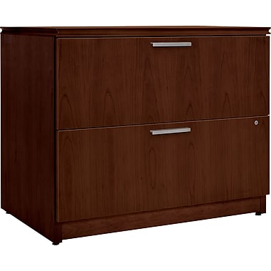 HON  Arrive 24in.D 2 Drawer Wood Veneer Lateral File, Shaker Cherry