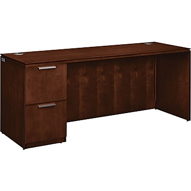 HON ® Arrive Wood Veneer Base Left Single Pedestal Credenza, 29 1/2in.H x 72in.W, Shaker Cherry