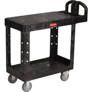 "Rubbermaid® 33 1/3""H x 19 3/16""W x 37 7/8""D Commercial Flat Shelf Utility Cart, Black"